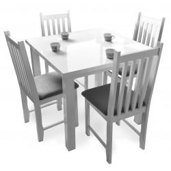 Krzesło drewniane MADISON 2 z tapicerowanym siedziskiem