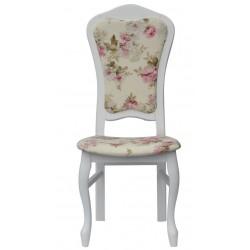 Białe krzesło DAMA idealne do toaletki, RÓŻA angielska ecru