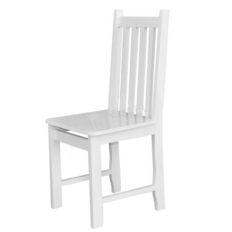 Krzesło drewniane MADISON 2 z białym siedziskiem