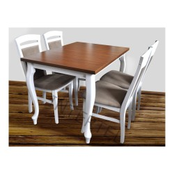 Białe krzesło TOLEDO drewniane