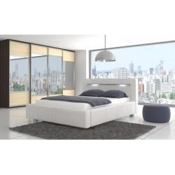PALMERA łóżka tapicerowane + LED białe