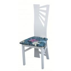 Białe krzesło drewniane BAGI