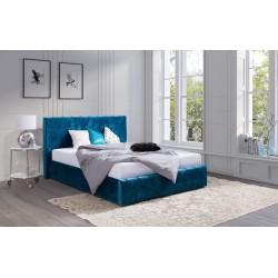 GRACJA wygodne łóżko tapicerowane, przeszycia KARO, 3 rozmiary