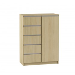 BEN Komoda 1-drzwiowa z 5 szufladami