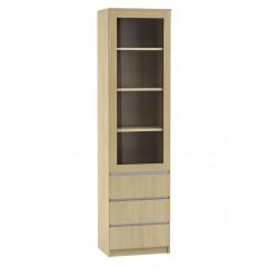 BEN Regał 1-drzwiowy z 3 szufladami