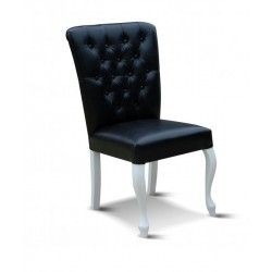 ROYAL V98 Pikowane krzesło tapicerowane, nogi ludwi
