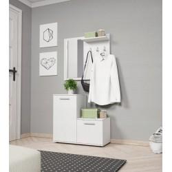MANTI garderoba z lustrem do przedpokoju, biała