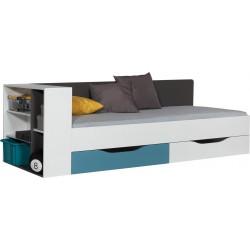 TABLO 12A + 12B Łóżko młodziezowe z półką 90x 200 cm