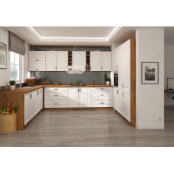 SOFI Biały zestaw mebli kuchennych, frez