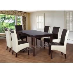 Elegancki zestaw 6-OSOBOWY do jadalni: krzesła KONRAD + stół LARGO