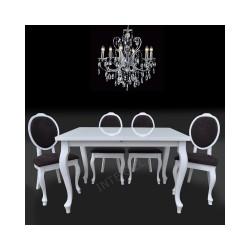 Zestaw w stylu ludwikowskim: 4 krzesła SONIA + stół BRILLANT 2