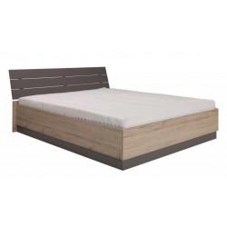 Łóżko DIJON z zagłówkiem 160x200 cm (san remo + popiel)