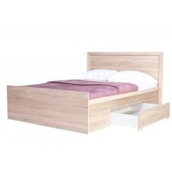 FINEZJA 10: Duże łoże z szufladą na pościel